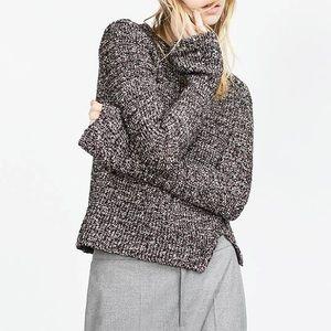 Zara Knit Belled Marble Sweater